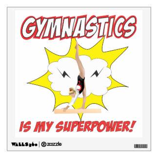 Gymnastics is my Superpower! Wall Sticker