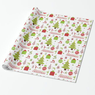 Gymnastics Kind of Christmas Festive Holiday Wrapping Paper