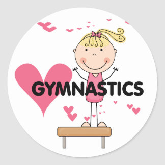 GYMNASTICS - Love Gymnastics Tshirts and Gifts Classic Round Sticker