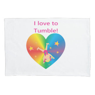 Gymnastics - Love to Tumble by Bella Pillowcase