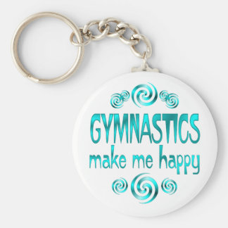Gymnastics Make Me Happy Basic Round Button Keychain