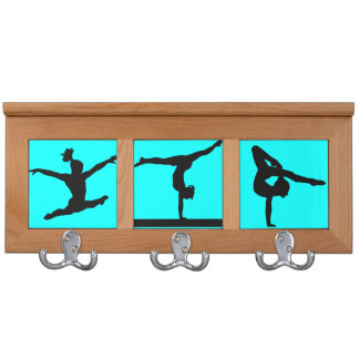 Gymnastics medal display coat racks