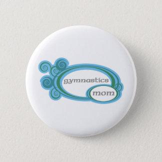 Gymnastics Mom 2 Inch Round Button