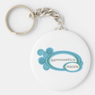 Gymnastics Mom Basic Round Button Keychain