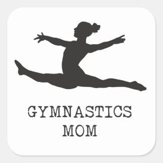 Gymnastics Mom Square Sticker
