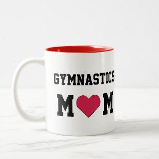 Gymnastics Mom Two-Tone Coffee Mug