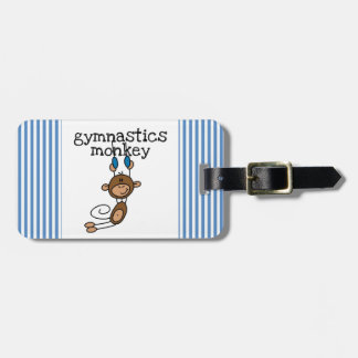 Gymnastics Monkey Bag Tag
