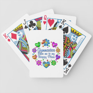 Gymnastics My Happy Place Bicycle Playing Cards