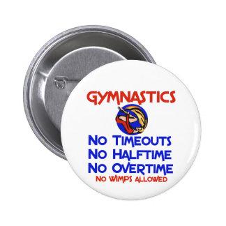 Gymnastics No Wimps Buttons