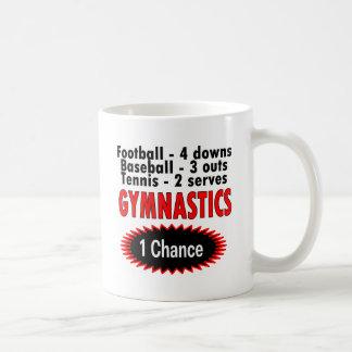 Gymnastics One Chance 1 side Basic White Mug