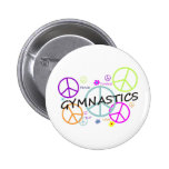 Gymnastics Peace Signs Button