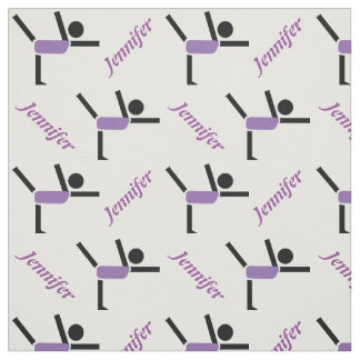 Gymnastics performer and your name personalized fabric