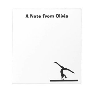 """Gymnastics"" Personalized Notepad"