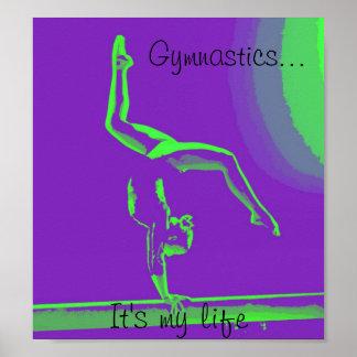 "Gymnastics poster ""It's my life"""