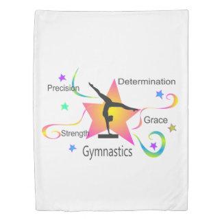 Gymnastics - Precision Strength Determination Grac Duvet Cover