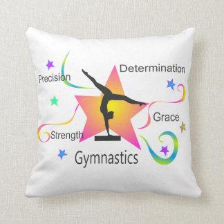 Gymnastics - Precision Strength Determination Grac Throw Pillow