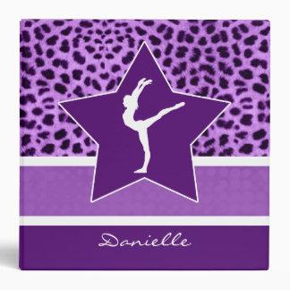 Gymnastics Purple Cheetah Print with Monogram Vinyl Binder