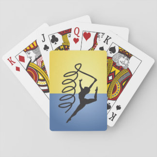Gymnastics Ribbon Routine Playing Cards
