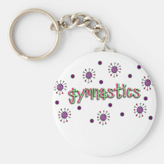 Gymnastics solar dots basic round button keychain