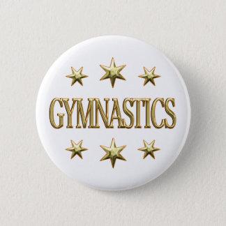 Gymnastics Stars 2 Inch Round Button