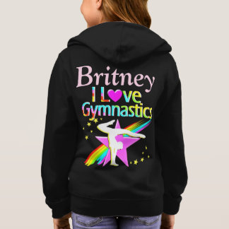 GYMNASTICS SUPER STAR PERSONALIZED HOODIE