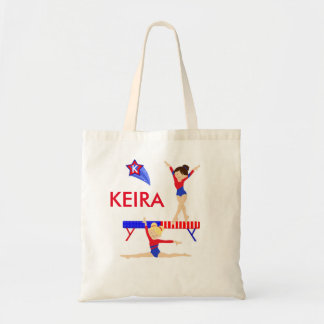 Gymnastics tote bag - red, white, blue