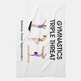 Gymnastics Triple Threat Kitchen Towel