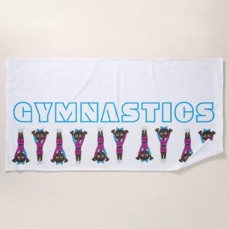 Gymnastics Tumbling Acrobat Gymnast Gym Coach Acro Beach Towel