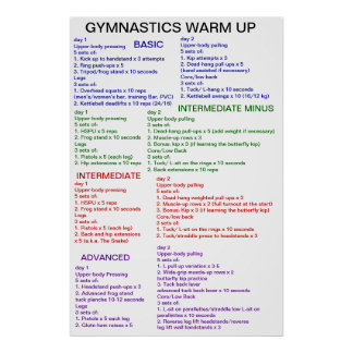 Gymnastics Warm-Up Poster