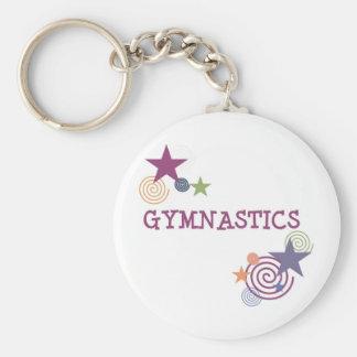 Gymnastics with Swirly Star Keychain