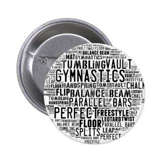 Gymnastics Word Cloud 2 Inch Round Button