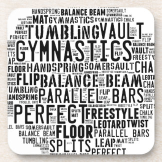 Gymnastics Word Cloud Coaster