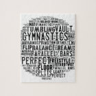 Gymnastics Word Cloud Jigsaw Puzzle