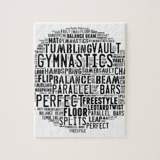 Gymnastics Word Cloud Jigsaw Puzzle