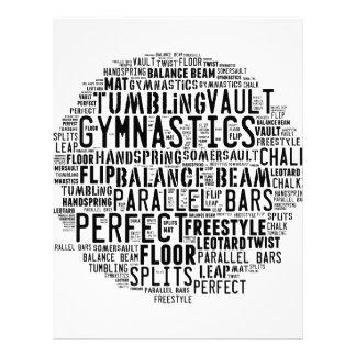Gymnastics Word Cloud Letterhead