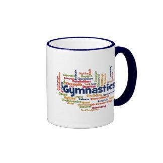 Gymnastics Word Cloud Ringer Mug