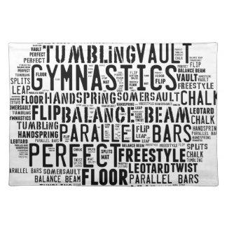 Gymnastics Word Cloud Placemat