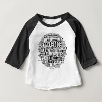 Gymnastics Word Cloud Tumbling Baby T-Shirt
