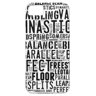Gymnastics Word Cloud Tumbling iPhone 5 Case