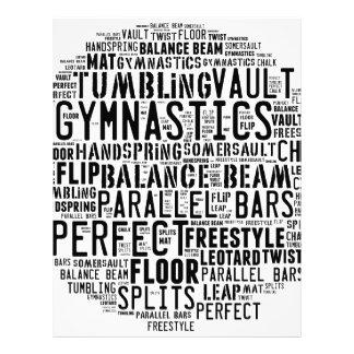 Gymnastics Word Cloud Tumbling Letterhead
