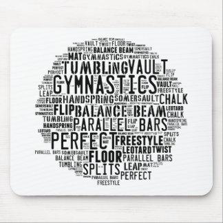 Gymnastics Word Cloud Tumbling Mouse Pad