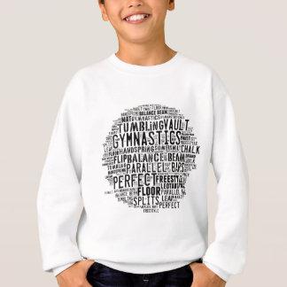 Gymnastics Word Cloud Tumbling Sweatshirt