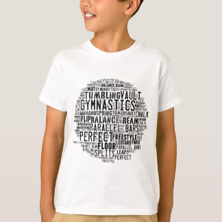 Gymnastics Word Cloud Tumbling T-Shirt