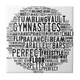 Gymnastics Word Cloud Tumbling Tile