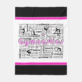 Gymnastics Words 2 Fleece Blanket