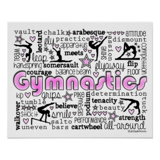 Gymnastics Words 2 Poster