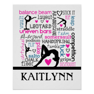 Gymnastics Words Poster