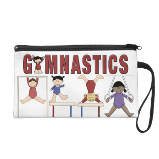 Gymnastics wristlet bag