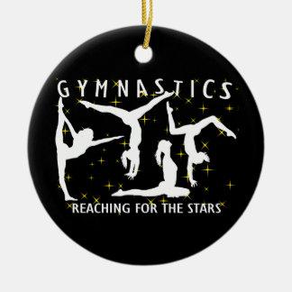 Gymnastique atteignant pour les étoiles ornement rond en céramique