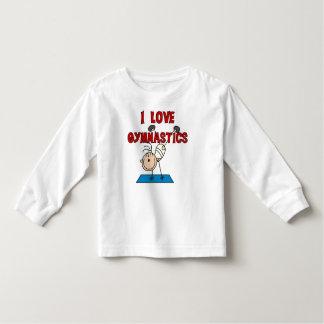 Gymnastique d'amour de la fille I T-shirt Pour Les Tous Petits